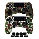 Hikfly Silicone Gel Controller Cover Skin Protector Kits for Sony PS4 /PS4 Slim/PS4 Pro Controller Video Games(2x Controller Cover with 8 x FPS Pro Thumb Grip Caps)(Brown,White) Review