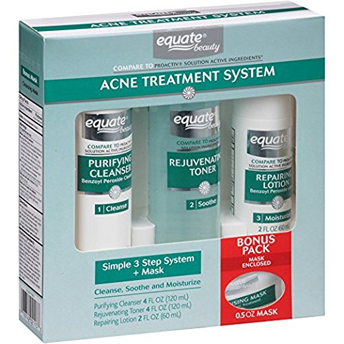 Equate 3-Step Acne Treatment System + Mask
