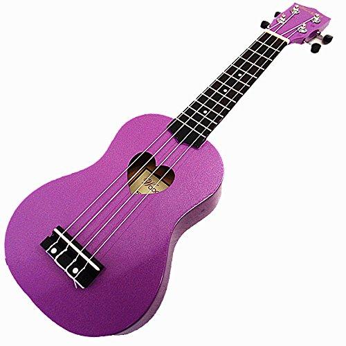 Woodnote Beautiful Wooden Purple with Heart Hole 21' Soprano Ukulele/rosewood Fingerboard & Bridge