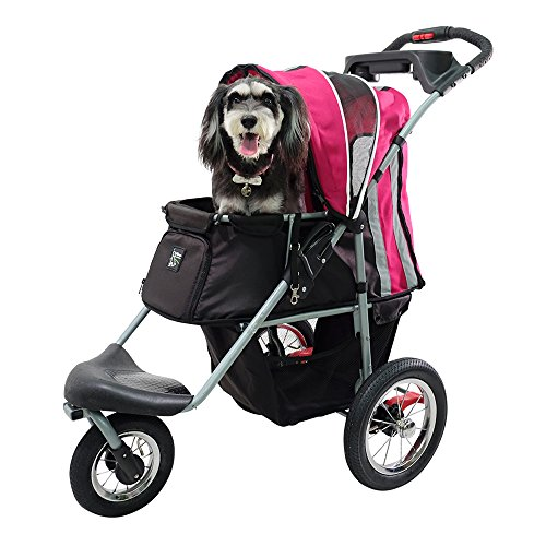 Sturdy Dog Stroller, Cat Stroller for Heavy Everyday Use, Air Filled Tires with Suspensions by ibiyaya