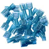 Yueton 100pcs Female Fully Insulated Wire Crimp Terminal Nylon Quick Connectors Wiring Spade