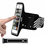 iPhone 5/5S/SE Running Armband Case Sweatproof,EOTW Cell Phone Sports Armband Pouch With Key Holder For Walking,Jogging,Gym,Cycling,Exercising (Black,4 inch)