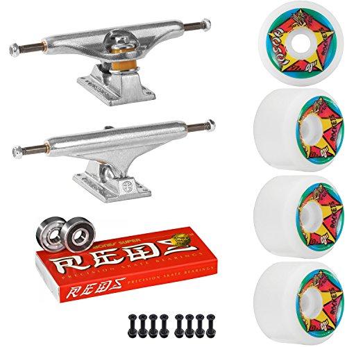 スタジオ指つぼみIndependentスケートボードキット159 Trucks OJ Hosoi 61 mm 97 aホイールホワイトSuper Reds