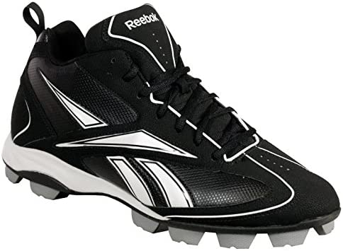 Reebok 269710 VERO FL III MID MRT Mens Baseball Cleats Black/White 13.5 M