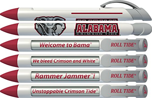 Alabama Crimson Tide Pen (Alabama Crimson Tide Braggin' Rights Rotating Message 6 Pen Set 20502)