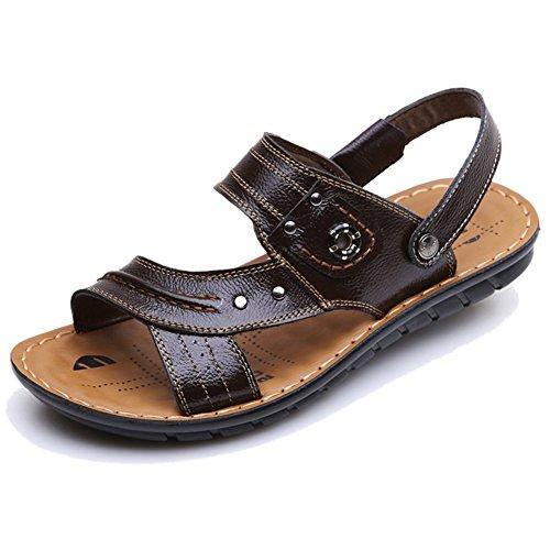 Keplia Svalt Mode Mens Sandaler Sommar Motståndskraftigt Sandels Brun