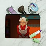 Mrs Claus with Mistletoe Santa Christmas Holiday Makeup Cosmetic Bag Organizer Pouch