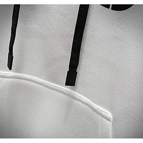 In E Shopping Go Inverno Pullover Sciolti Selvaggio Con Color Stampa Inglese Easy Cappuccio Khaki Autunno x0vRB5vw