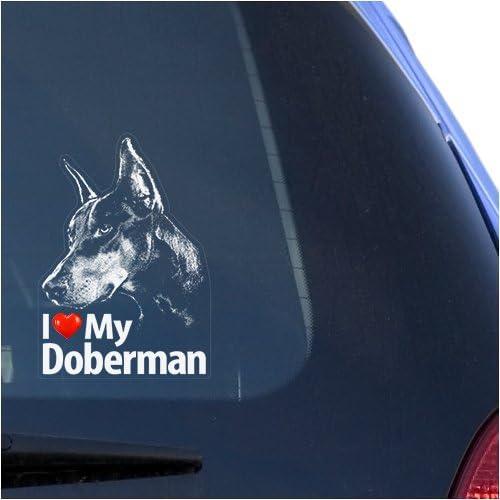 Mister Petlife Doberman Sticker Vinyl Auto Window pincscher v2 Dobie