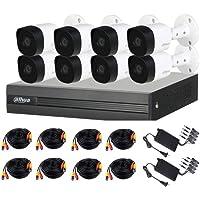 Dahua Copper XVR1B08KITII- Kit 8 Canales PENTAHIBRIDO 1080P Lite/ H265+/ 2 CH IP ADICIONALES 8+2/ P2P/ 8 CAMARAS 1080P…