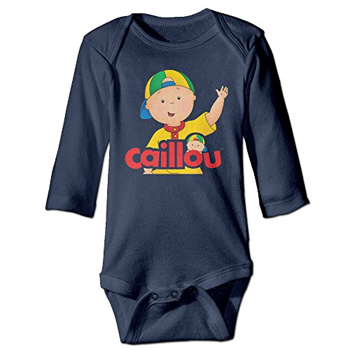 Baby Kids 100% Cotton Long Sleeve Onesies Toddler Bodysuit Caillou Baby Onesies Navy Size 18 Months