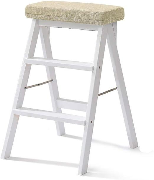 Escalera de tres escalones, doble cara, multiusos, fuerte y liviana - Patas antideslizantes - Diseño plegable fácil de guardar - Ideal para el hogar/cocina/garaje (color : B): Amazon.es: Bricolaje y herramientas