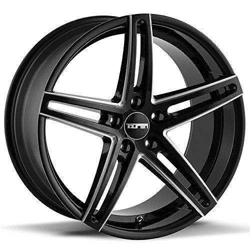 (Touren TR73 Gloss Black/Milled Spokes Wheel Finish (18 x 8. inches /5 x 112 mm, 35 mm Offset))