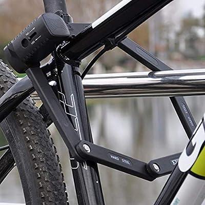 KuaiKeSport Candado Bicicleta Moto Alta Seguridad,Bloqueo Plegable ...