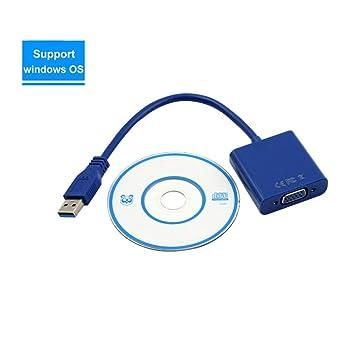 Amazon.com: Dreamyth - Adaptador USB 3.0 a VGA para ...