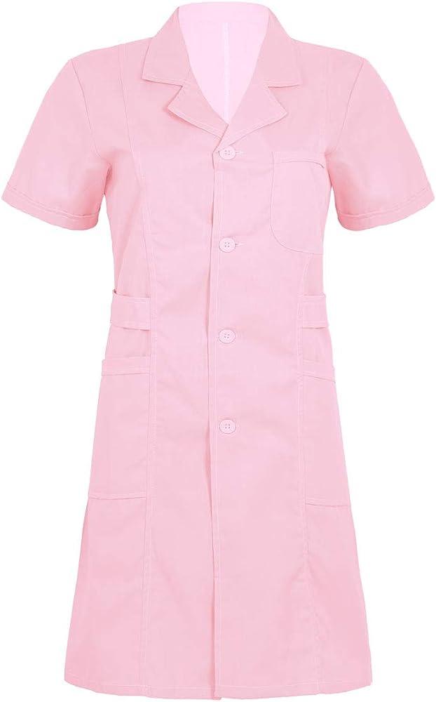 Agoky Disfraces de Enfermera Chica Mujer Vestido Blanco Traje de ...