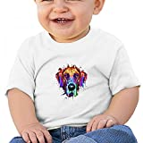Sfjgbfjs White Baby Great Dane T-Shirt 18M Soft Cozy Infant Short Sleeve Undershirts