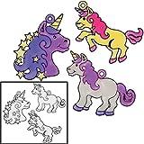Plastic 4'' Unicorn Suncatchers (24 Pack)