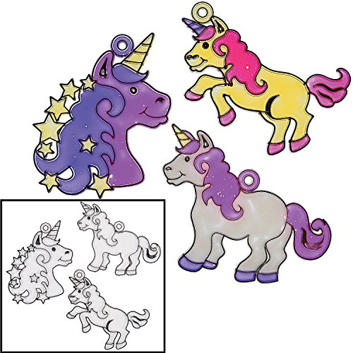 Plastic 4'' Unicorn Suncatchers (24 Pack) by Fun Express