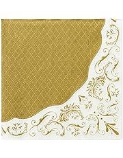 Talking Tables Party Porcelain; elegante vintage servetten voor Kerstmis, bruiloften en dinerfeestjes, goud (20 per verpakking)