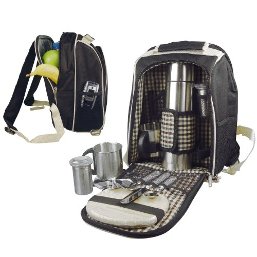 Picknickrucksack-aus-robustem-Polyester-mit-integrierter-Khltasche-uvm-fr-2-Personen-schwarz-6660