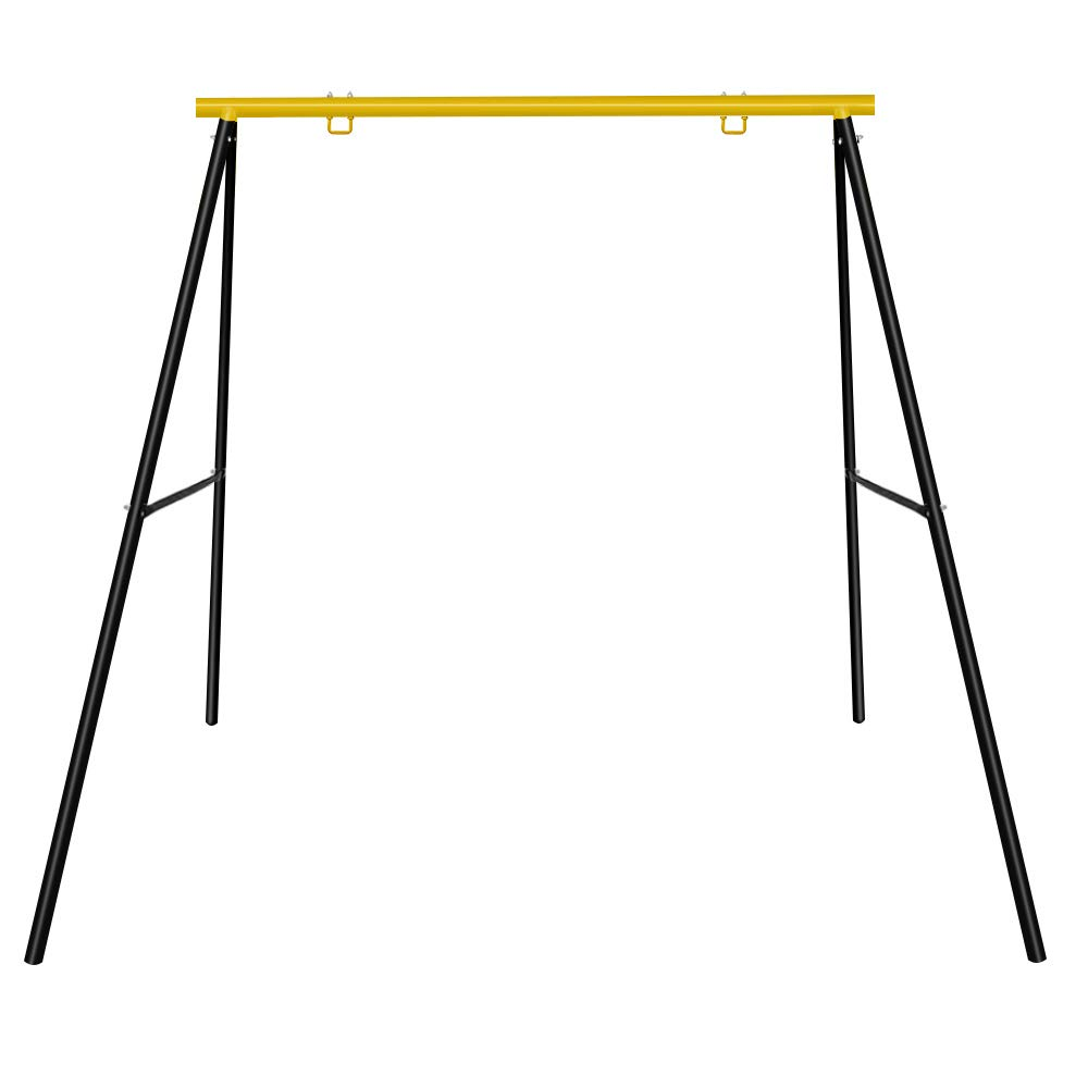 SURPCOS Extra Large Heavy Duty All-Steel All Weather A-Frame Swing Frame Set Metal Swing Stand, 72 Height 87 Length, Fits for Most Swings, Fun for Kids Swing Frame