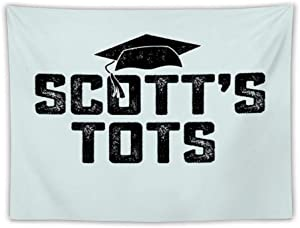 Scott's Tots Scott The Office NBC Tv Show Funny Gift Apron Wall Tapestry Apestry Album 3D Wall Hanging Art Home Decor Wave Tapestries