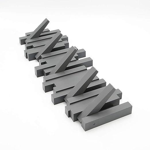 Umbra Sticks - Perchero - Moderno y Ahorro de Espacio Perchero con 5 Ganchos recorre Lichen para Chaquetas, Abrigos, Bufandas, Bolsos y más, Negro
