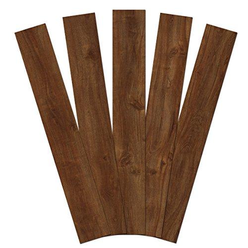 Handscraped Wood Flooring - Admira Collection 10 Pack 4mm Stone Core Engineered Vinyl Plank Flooring, 48