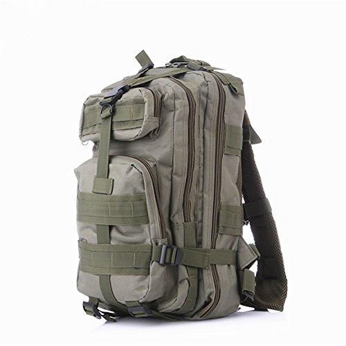 25L Taktische Im Freien Militärische Rucksack Notebooktasche Reisetasche für Reisen Wandern Outdoor Aktivitäten Armeegrün