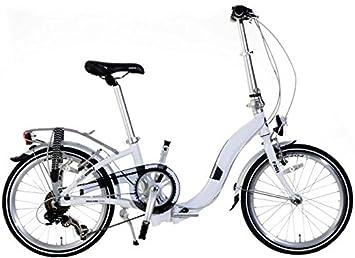 Holland bicicleta plegable para Plezier F201 Cuadro bajo. Aluminio Color Blanco de 6 marchas