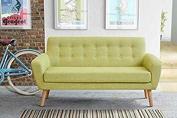 MYFurniture Sexton 2 Seater Sofa Retro Green Amazoncouk