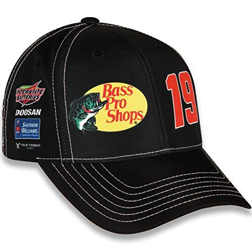 85384f5b1483d Checkered Flag Martin Truex Jr 2019 Bass Pro Shops Uniform NASCAR Hat Black