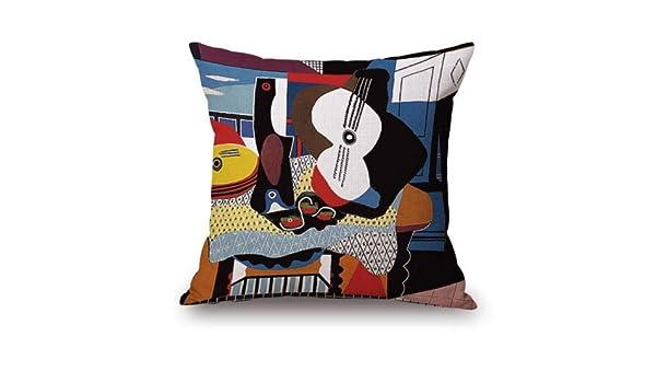 Ji5487oel Picasso - Funda de Almohada para Guitarra (45,7 x 45,7 ...