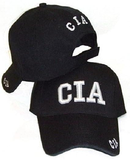 Amazon.com  CIA Embroidered Adjustable HAT Black Fbi Ball Cap ... 344131838fc