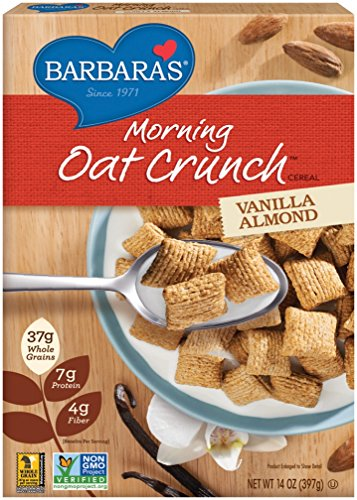 Barbara's Bakery Morning Oat Crunch Cereal, Vanilla Almond, 14 Ounce (Pack of 6) For Sale