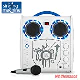 Portable Karaoke CD/CDG Player Singing Machine SML-383YB Limited Edition, Youth Blue (Refurbished)