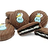 Philadelphia Candies Milk Chocolate Covered OREO® Cookies, Blue Stork (It's a Boy!) Baby Gift 8 Ounce