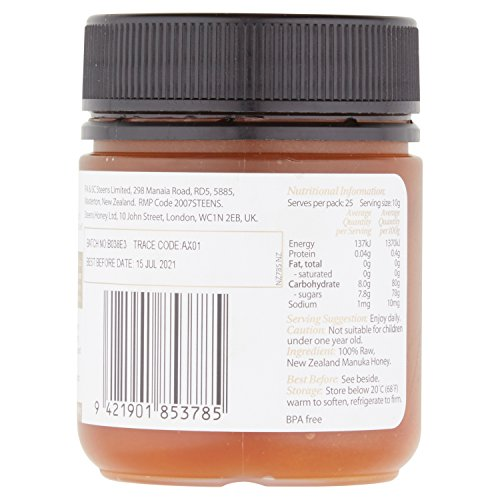 Steens UMF 24 Manuka Honey (MGO 1122) 8.8 Ounce jar with box | Raw Unpasteurized Honey From New Zealand | Traceability Code on Each Label by Steens (Image #2)