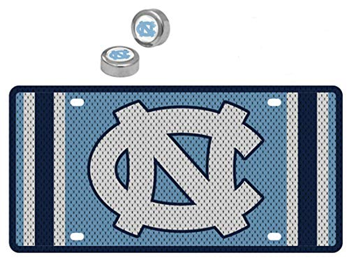 - Stockdale Bundle 2 Items: University of North Carolina UNC Tar Heels Premium Jersey Style License Plate and 1 Pack of 2 Screw Covers