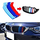 Lanyun BMW M Colors Grille Insert Trims Decorate For 2014-up F32 F33 F36 4 Series w/9-Beam Grill