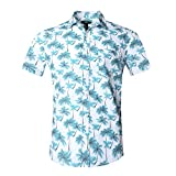 NUTEXROL Hawaiian Shirts Mens Bamboo Print Beach Aloha Party Holiday print1 XL