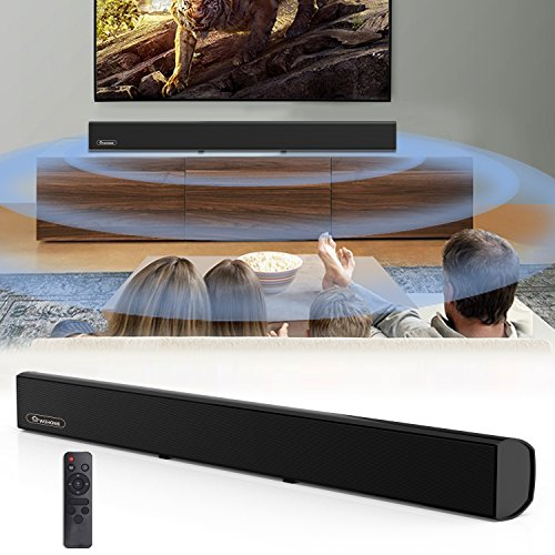 Soundbar, Wohome TV Sound Bar Wired and Bluetooth Wireless Audio Speaker(80W, 38