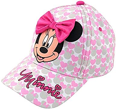 Disney Girls Minnie Mouse Cotton Baseball Cap with 3D Bowtique...