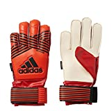 adidas Performance ACE Fingersave Junior Goalie Gloves, Solar Red/Solar Orange/Solar Gold/Core Black, Size 4
