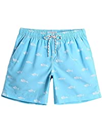 835af2b23840 Mens Slim Fit Quick Dry Short Anchor Swim Trunks with Mesh Lining