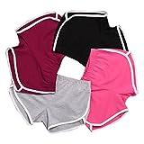 DaySeventh New Summer Pants Women Sports Shorts Gym Workout Yoga Short (S, Black)