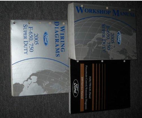2005 Ford F-650 750 Medium Truck Service Manual Set OEM ... Ac Wiring Diagram Ford F on