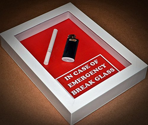 In Case of Emergency Break Glass - Gift for SMOKER Husband, Wife, Men, Women, Gift for Boyfriend, Girlfriend, Valentine -In Case of Emergency Break Glass (Cigarette & Lighter)