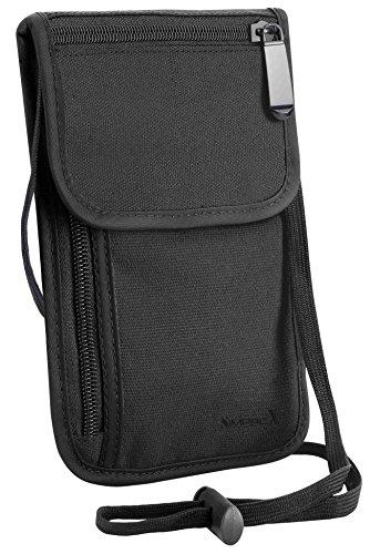 SimpacX Passport Holder Cover Case RFID Blocking Classic Neck Travel Wallet
